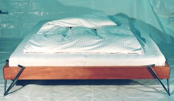 Bett Stahl werkbau göttingen - möbel zum liegen - bett (buche und stahl)